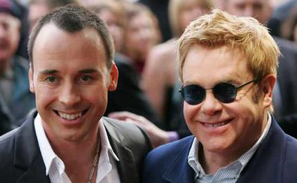 Elton John and David Furnish.