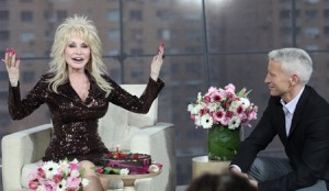 Dolly Parton celebrates her 66th birthday with Anderson Cooper