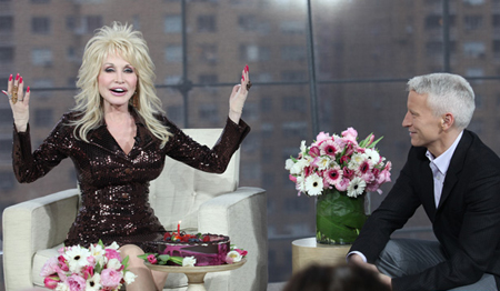 Dolly Parton and Anderson Cooper
