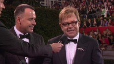 During the NBC's red carpet special at the Golden Globes awards Elton john used an...