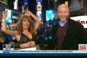 Kathy Griffin Strips Live On CNN New Years Celebration