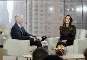 Angelina Jolie Visits Anderson Cooper Show