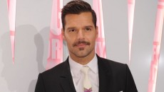 Openly gay Latin singer Ricky Martin debuted his new moustache last night at the MAC...