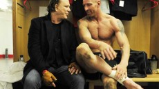 Rugby star Gareth Thomas has denied suggestions that Mickey Rourke has pulled out of playing...