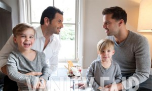 Ricky Martin, His Parter Carlos González and twins Matteo and Valentino Pose For Vanity Fair