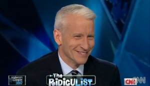 Anderson Cooper breaks out his signature giggle again