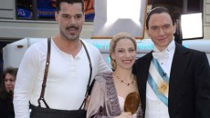 The cast of EVITA, including Ricky Martin, Michael Cerveris and Elena Roger performed 'Buenos Aires'...