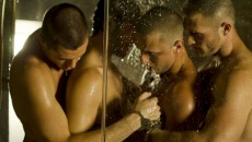 The Andrew Christian models turn the lights down low for this S&M video that was...