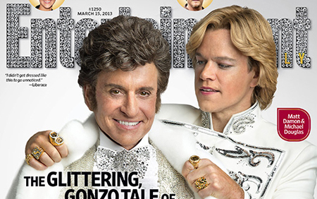 Matt Damon and Michael Douglas ew-COVER2