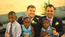 Kelly Vielmo and partner Jack Montgomery tied the knot and adopted Ravyn, 2, Cardel, 6...