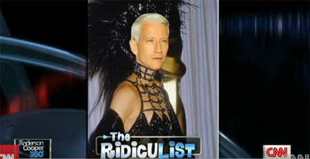 Anderson Cooper does terrible Cher impression