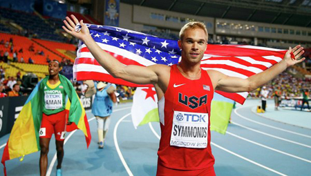 American middle distance runner Nick Symmonds