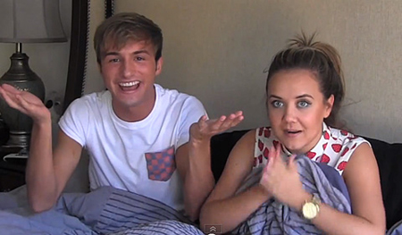 Lucas Cruikshank and Jennifer Veal