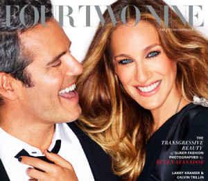 Sarah Jessica Parker & Andy Cohen talk about their twenty-year friendship on FourTwoNine debut issue