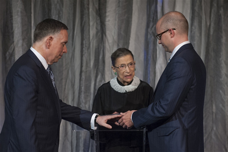 Supreme Court Justice Ruth Bader Ginsburg marries Michael M. Kaiser and John Roberts