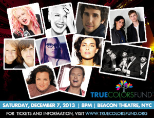 "CYNDI LAUPER'S TRUE COLORS FUND ANNOUNCES 3rd ANNUAL ""HOME FOR THE HOLIDAYS"" BENEFIT CONCERT"