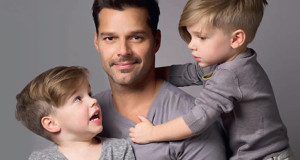 Ricky Martin and his kids