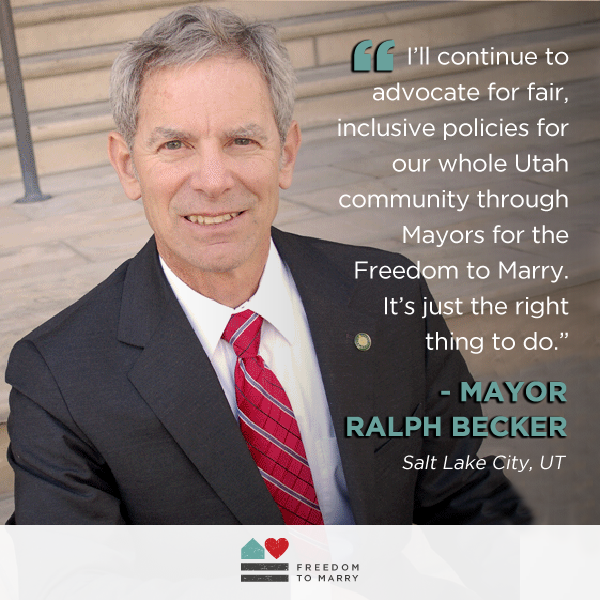 Mayor Ralph Becker of Salt Lake City