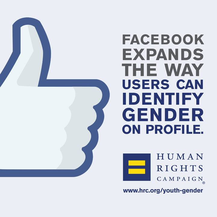 New Facebook Gender Options Validated by HRC Report on Gender-Expansive Youth