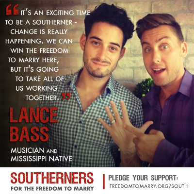 Lance Bass Appears in New Video on Winning Marriage in the South