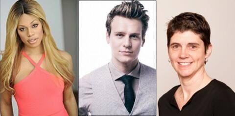 Laverne Cox, Jonathan Groff, and Rea Carey!