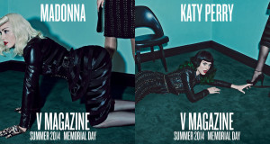 madonna katy perry v magazine