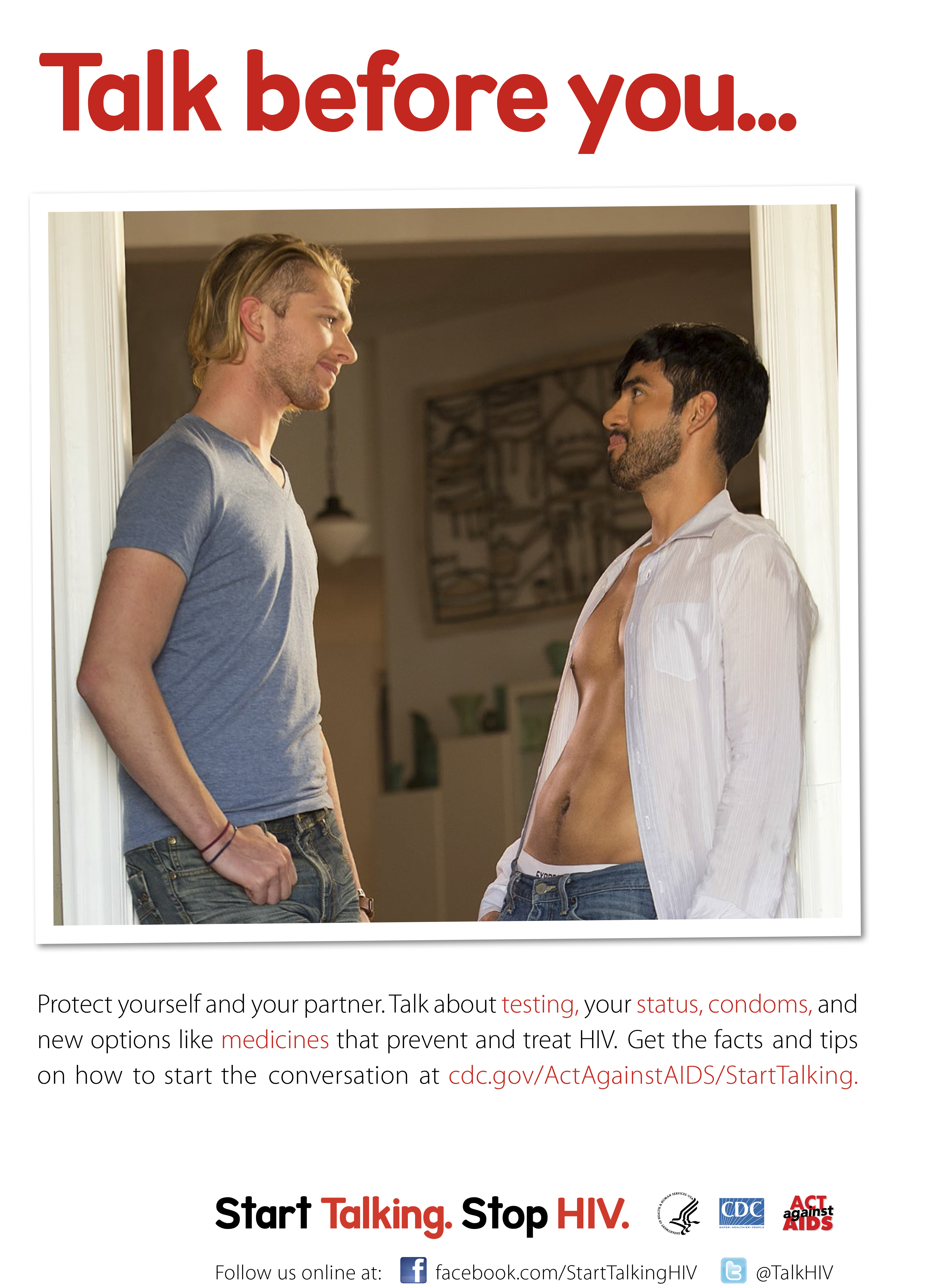 Start Talking. Stop HIV. – Talk Before You… poster
