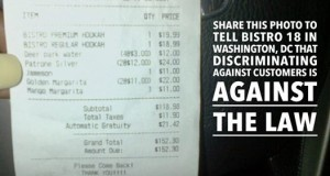 LAMBDA LEGAL FILES COMPLAINT FOR ANTI-LGBT SLUR ON RESTAURANT RECEIPT
