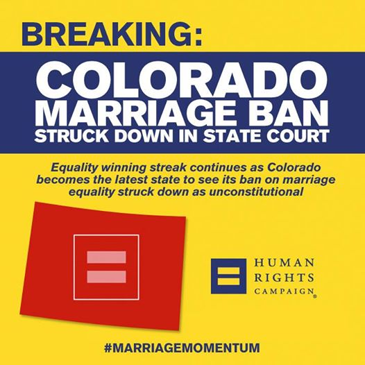 Colorado Marriage Ban Struck Down in State Court