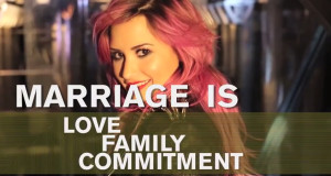 Demi Lovato for HRC's Americans For Marriage Equality