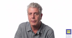 Anthony Bourdain Stars in Web Video for HRC's Americans for Marriage Equality Campaign