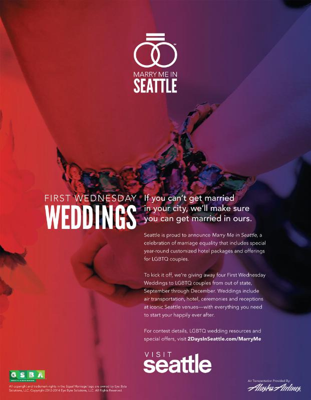 Visit Seattle Marry Me ad