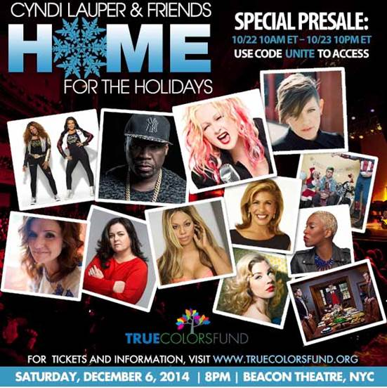 Cyndi Lauper & Friends Home for the Holidays 2014