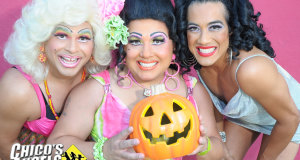 Chico's Angels host the Palm Ave stage at West Hollywood's 2014 Halloween Caraval