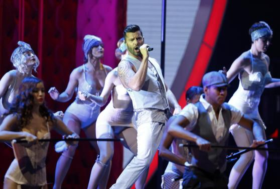 """Ricky Martin performs """"Adios"""" at the 15th Annual Latin Grammy Awards in Las Vegas"""