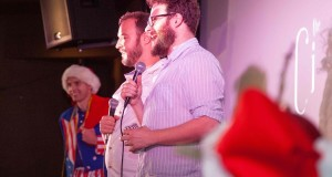 Seth Rogen introduces THE INTERVIEW at 12/25 midnight screening in LA at Cinefamily