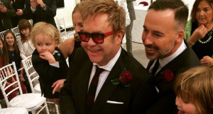 Sir Elton John and David Furnish wedding