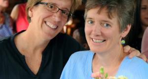 Carrboro Mayor Lydia Lavelle and Alicia Stemper