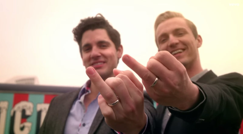 gay couple featured in Kelly Clarkson video