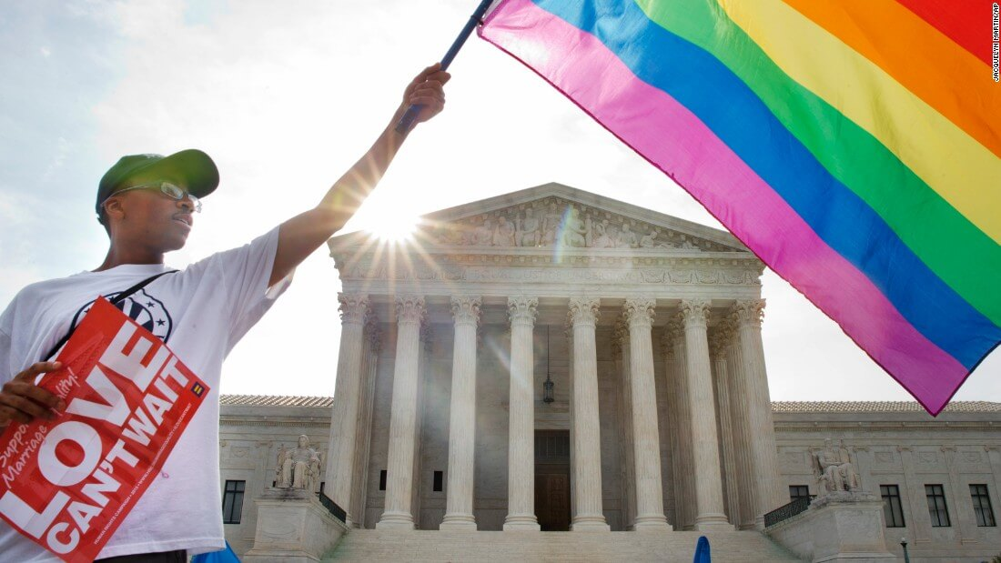 US court Rainbow Flag