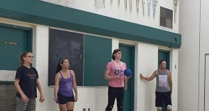 Transgender athlete Savannah Burton practicing for Dodgeball World Championships (PRNewsFoto/Savannah Burton Inc.)