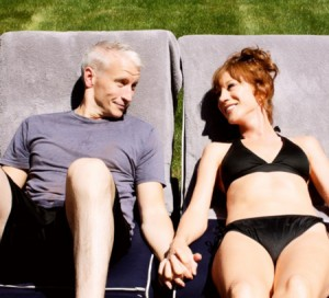 Anderson And Kathy Griffin Sunbathe