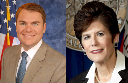 District Attorney Bonnie Dumanis and Councilman Carl DeMaio