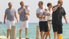 Elton John and David Furnish join Neil Patrick Harris and David Burtka for a family...