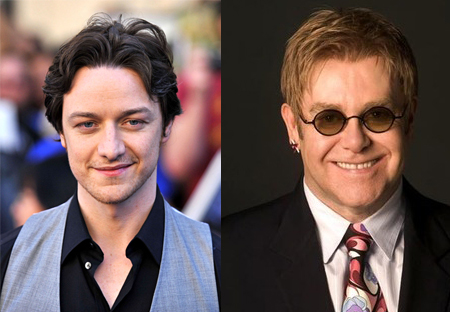 James McAvoy and Elton John