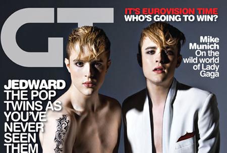 Jedward gay times cover 2