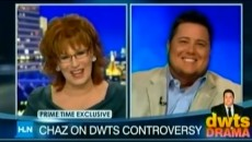 Dancing with the star cast member Chaz Bono talk to Joy Behar about the controversy...