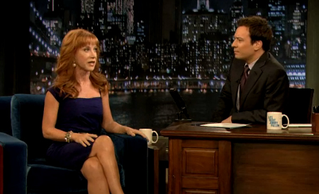Kathy Griffin and Jimmy Fallon