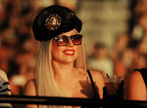 Lady GaGa Attends Britney Spears' Concert