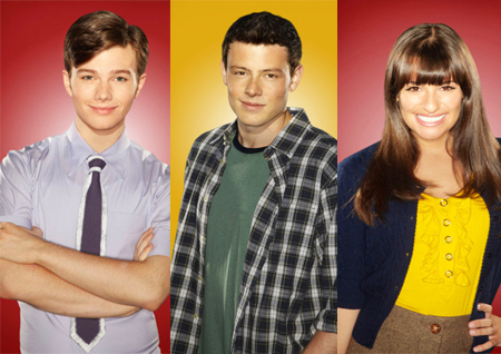 Lea Michele, Cory Monteith and Chris Colfer